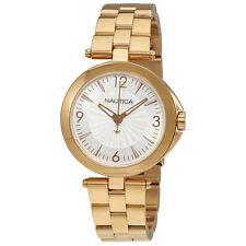 Nautica NLC 105 Silver Dial Ladies Rose Gold Tone Watch NAD15517L