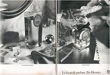 ▬► PUBLICITE ADVERTISING AD Parfum Perfume Calèche HERMES 2 pages de 1973