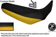 BLACK & YELLOW VINYL CUSTOM FITS YAMAHA XT 660 R 04-17 DUAL SEAT COVER