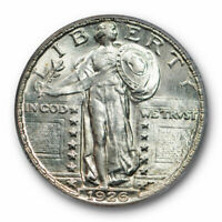 1926 25C Standing Liberty Quarter PCGS MS 62 FH Full Head Uncirculated