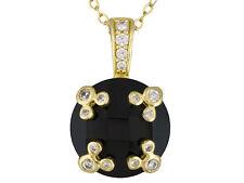 Disney Authentic Black Onyx & White Diamond Simulant Mickey Mouse Neclace