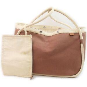 Hermes Tote Bag  Browns Canvas 1716459