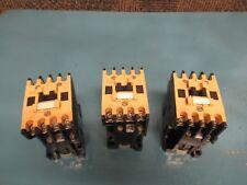LOT OF 3 ALLEN BRADLEY CONTACTOR 100-A09ND3 SER B 9A A AMP 120V COIL 100A09ND3