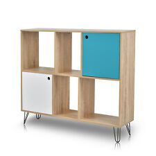 6 Cubes Cabinet Display Stand Rack Shelf Bookcase Room Divider MDF - 2 Tiers