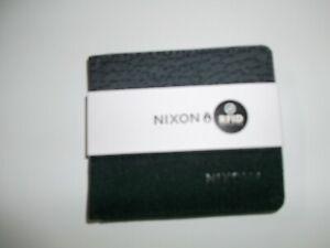 NIXON RFID Protected Atlas Showdown Black Buffalo Print Canvas BIFOLD WALLET NEW