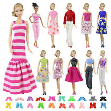 5x Blouse 5 Trousers Pants Casual Outfit Wear for Barbie Doll Handmade Clothes