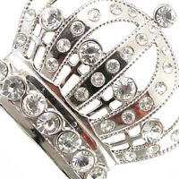 Fashion Women Men's Crystal Rhinestone Crown Belt Buckle Wedding Costume