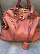 Auth Large YSL Rive Gauche Muse Bag Leather