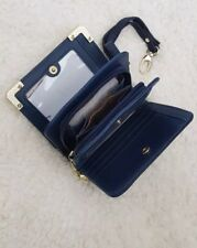 Small Ladies purse Blue with zip compartments wallet organiser new