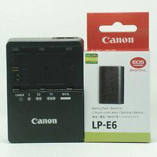 LP-E6 Battery & LC-E6E Charger F Canon EOS 7D 5D 6D 60D 60Da Mark II III Grip