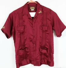Chamizzo by Alvarez Men XL 42 Maroon S/S Button Front Shirt Embriodered Scorpion