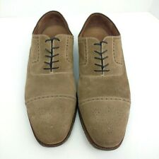 5e971642e84 E T Wright Shoes Masters Collection Leather Oxfords Size 15 EE Suede Brown