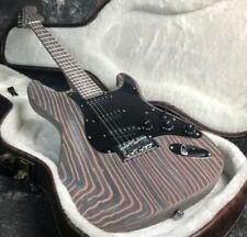 Top Quality ST Unfinished Electric Guitar Laminated Made Zebra Wood Good Grain