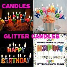 Happy Birthday Glitter Birthday Cake Candles Multicolor Candles