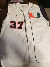 University Of Miami Game Used Baseball Jersey Size 46 #37 Roque