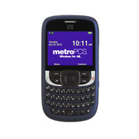 Unlocked ZTE F555 Blue QWERTY Messaging Phone