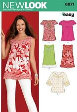 NEW Look Sewing Pattern MISSES Pullover Superiore o Tunica Taglia 10 - 22 6871