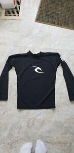 Rip Curl Rash Guard Sun Protection UV Swim Shirt Youth Boys Size 10 M