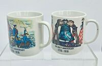TWO VINTAGE BICENTENNIAL 200TH INDEPENDENCE ANNIVERSARY COFFEE MUGS