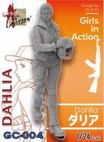 ZLPLA Genuine 1/24 Resin Figure Dahlia Girls in Action Assembly Model Kit GC-004