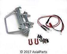 Axial SCX10 HD Aluminum Front Bumper Chassis Mount LED Lights Wrangler Deadbolt