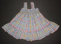 INFANT GIRLS BEATRIX POTTER FOR BABY GAP BLUE & YELLOW PLAID DRESS SIZE 6-12 MON