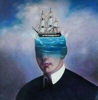 TO BE A MAGELLAN canvas Öl auf Leinwand Gemälde Gr. ca. 33x33 cm