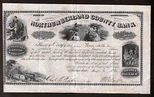 Northumberland County Bank 1862 RARE  Pennsylvania SUPERB BEAUTIFUL - Civil War