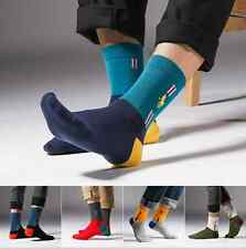 5 Pairs Men's polo Business Casual Style Autumn Crew Quarter Dress Cotton Socks