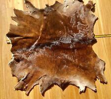 Calf  Skin Rug Soft Fur hide  Natural  brown/ white  baby  cow dog blanket