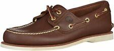 Timberland Men's Classic 2-Eye Boat Shoe, Dark Brown, 7.5 M