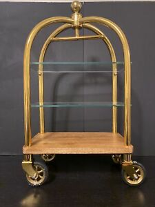 Godinger Barware Bar Luggage Trolley Bar Display Piece Brand New
