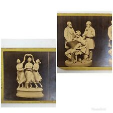 Lot Of 2 : SV Cards Antique Lincoln + The Three Graces Sculpture Stereoview