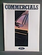FORD COMMERCIALS CATALOGUE 1988 Includes P100, Transit and Specialised Vehicles