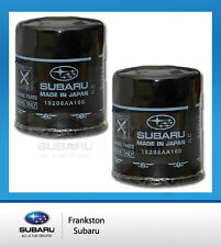 2 x NEW GENUINE SUBARU XV IMPREZA + FORESTER + OUTBACK OIL FILTER 15208AA160