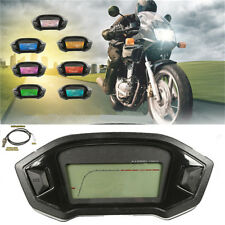 Durable Motorcycle LCD Digital Speedometer Odometer Tachometer Gauge km/h mph