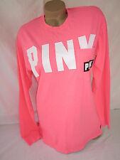 Victoria's Secret PiNK Campus T Shirt Coral Bright Tee S NWT RUNS BIG