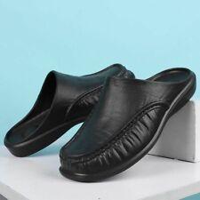 Premium Leather Men Indoor Slippers Comfort Lightweight Outdoor Non-slip Shoes
