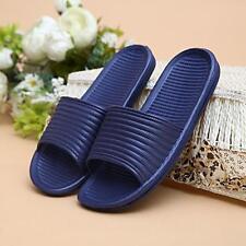 Man Stripe Flat Bath Slipper Summer Sandals Indoor Outdoor Home Beach Slipper K1