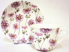 Japanese Anemone Large Cup & Saucer Bone China Breakfast Set Hand Decorated UK