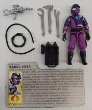 G.I. Joe Cobra Battlefield Technician TECHNO-VIPER 1987 Version 1 Figure (Loose)