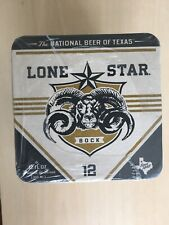 Rare Lone Star Bock Beer Coaster Lot of 125 Original Packaging