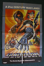 LAND OF DOOM 1986 ORIG VHS VIDEO MOVIE POSTER POST APOCALYPTIC LIGHTNING