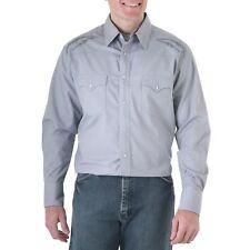 WRANGLER Mens FINE DETAL EMBROIDERY Shirt - 2XL - Gray - 75946GY