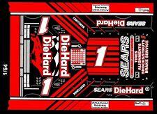 #1 PJ Jones Sears DieHard Chevrolet 1/64th HO Scale Slot Car Waterslide Decals