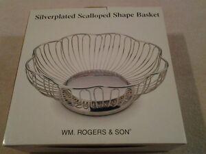 Wm Rodgers Pierced Silver Plated Edwardian BridalCakeSandwich Basket 1910s Silver Basket