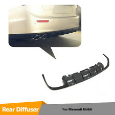 Carbon Fiber Rear Bumper Diffuser Lip Spoiler For Maserati Ghibli Sedan 14-17