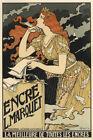 Encre L Marquet By Eugene Grasset Vintage French Advertising Art Nouveau Poster