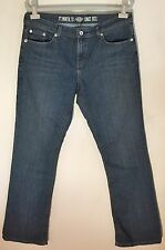 Dickies Women's Relaxed Bootcut Jeans Antique Dark Size 12 Long
