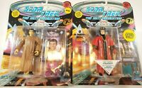 Star Trek TNG Picard as Romulan & Q in Judges Robe 1994 Playmates Action Figures